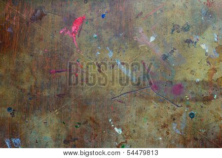 Texture Of Stained Table
