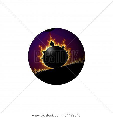 Fractal Mandelbrot Mandala Globe