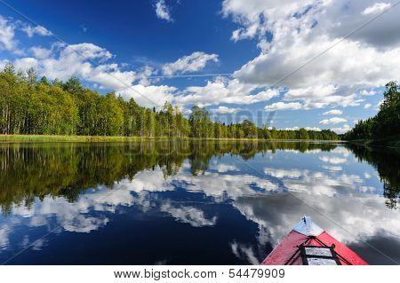 Kayaking at northern river