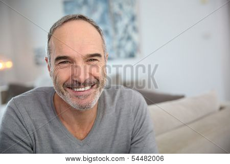 Portrait of handsome mature man
