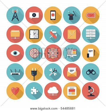 Seo And Web Icons Set poster