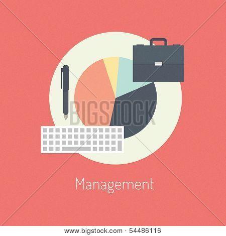 Concepto de ilustración planos de gestión