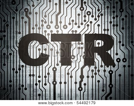 Finance concept: circuit board with CTR
