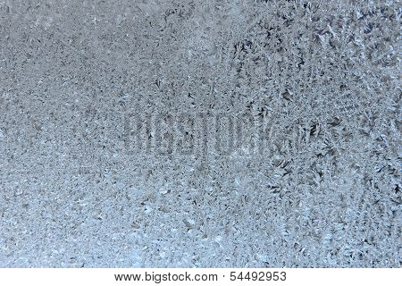 Texture Of Frosted Glass. Winter Background.