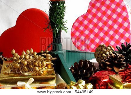 Presents And Pine Cones