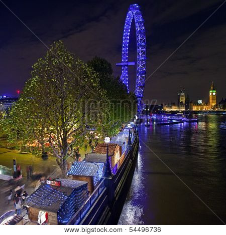 Christmas Market On The South Bank In London