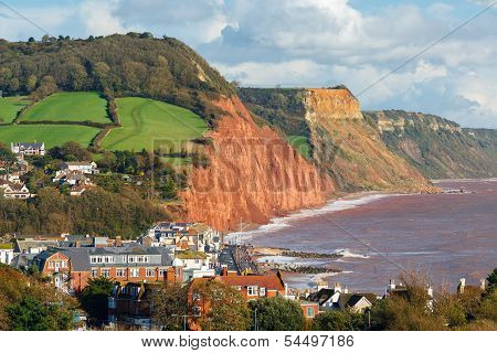 Overlooking Sidmouth Devon England