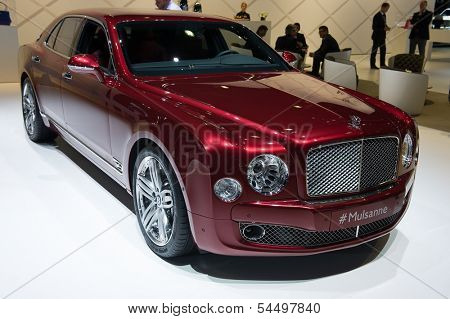 LOS ANGELES, CA - NOVEMBER 20: A Bentley Mulsanne on exhibit at the Los Angeles Auto Show in Los Angeles, CA on November 20, 2013