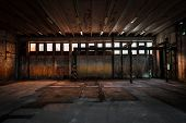 stock photo of low-light  - A Abandoned Vehicle Repair Station Inside - JPG