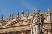 Statue Of St. Paul In Vatican