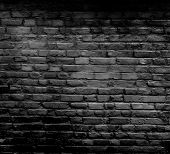 foto of stonewalled  - Old dark brick wall - JPG