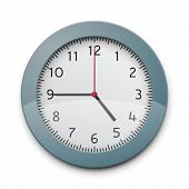 pic of analog clock  - Realistic round wall clock - JPG