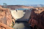 View Of Glen Canyon Dam And Lake Powell