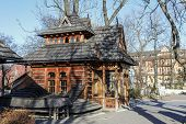 Small Wooden Building Called Pocztowka In Zakopane