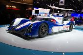 LOS ANGELES, CA - NOVEMBER 20: A Toyota TS030 Hybrid racing car replica on exhibit at the Los Angele