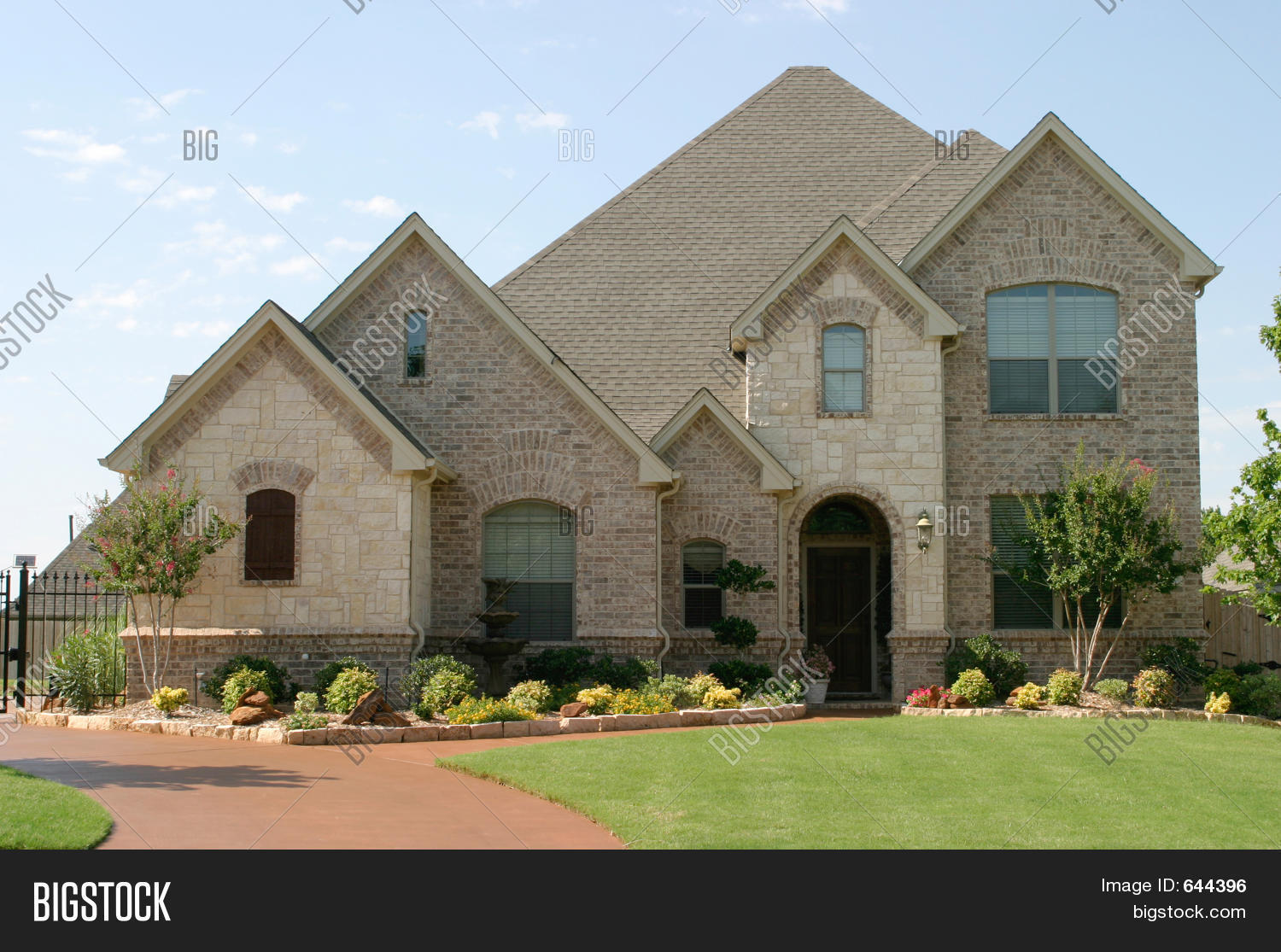 Large Suburban House Image Photo Bigstock