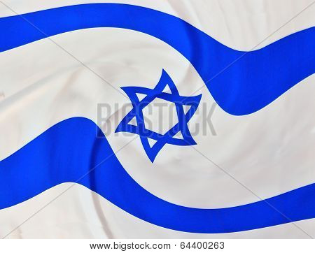 Swirly Israel Flag On Independence Day