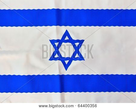 Wavy Israel Flag On Independence Day