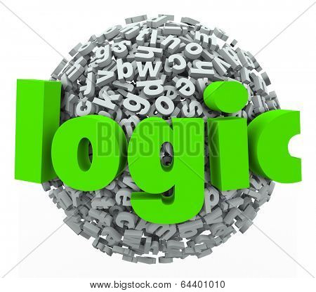 Logic 3d Word Letter Ball Sphere Reason Rationale