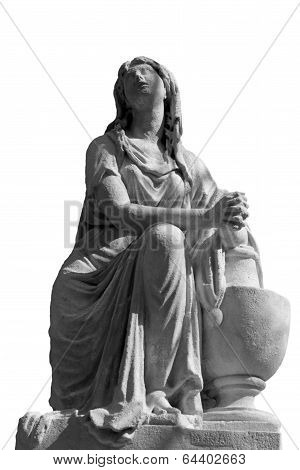 Statue Of Women On Tomb