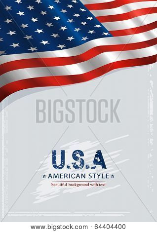 American Independence Day background. Vector illustration 8 eps