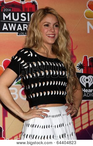 LOS ANGELES - MAY 1:  Shakira at the 1st iHeartRadio Music Awards Press Room at Shrine Auditorium on May 1, 2014 in Los Angeles, CA