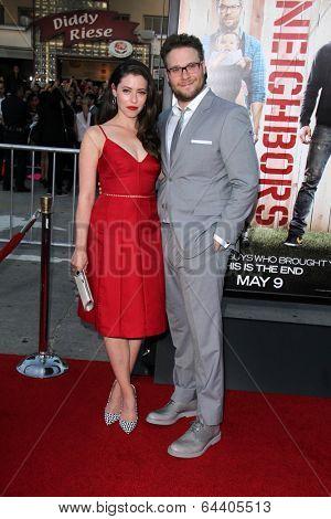 LOS ANGELES - APR 28:  Lauren Miller, Seth Rogen at the
