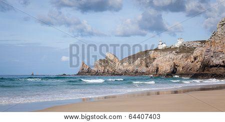 Coastal Seascape With A Lighthouse
