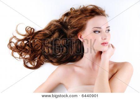 Beautiful Nice Woman With Long