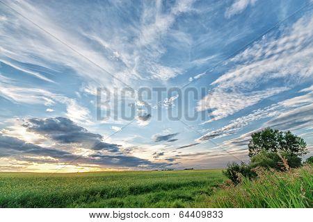 Alberta Prairie Sunset