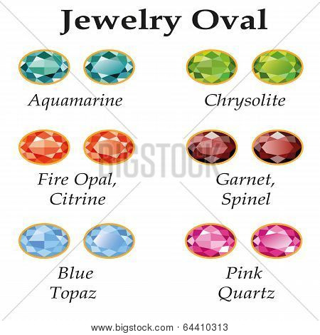 Jewelry Oval Isolated Objects