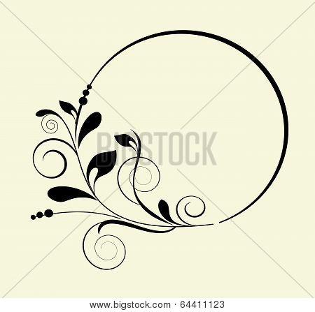 Decorative Oval Frame - Element For Design In Vintage Style