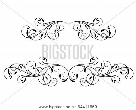 Decorative Element For Design In Vintage Style