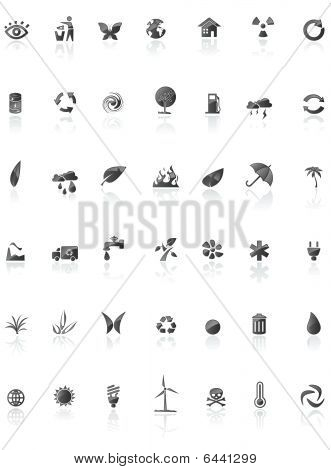 Black Enviroment Icons.eps