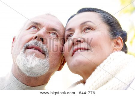 Hopeful Older Couple