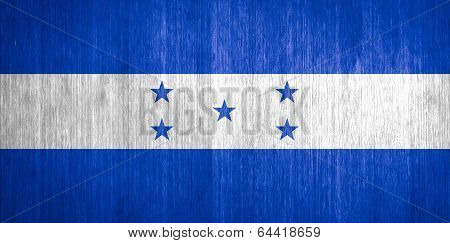 Honduras Flag On Wood Background