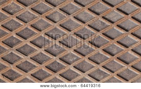 Rusted Steel Diamond Plate Background Photo Texture