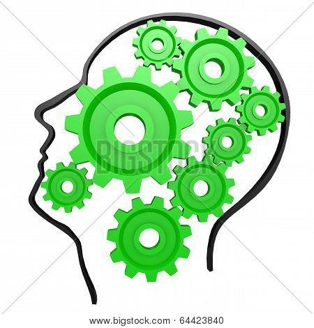 Human Head Gear Green