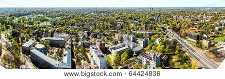 Pardaugava. Panoramic View Of Riga City Neighbourhood. Latvia