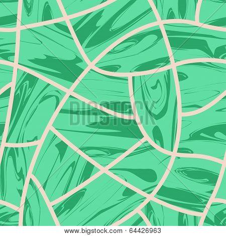 Malachite. Cobblestone seamless background.