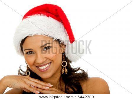 Female Santa Smiling