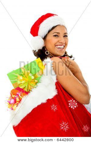 Santa Woman With Presents