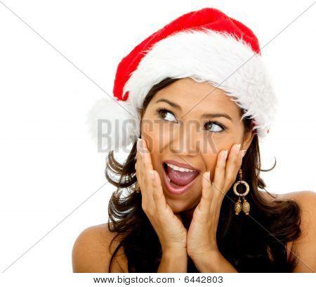 Surprised Female Santa