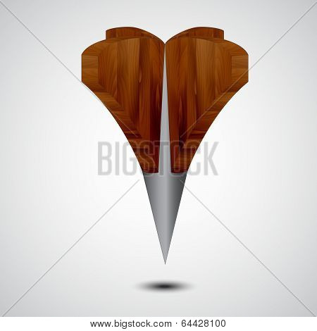 wooden Grey Map Pointer Icon on a grey background