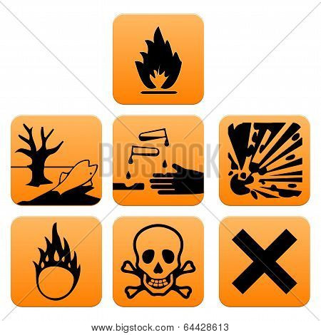 Hazard pictogram icons