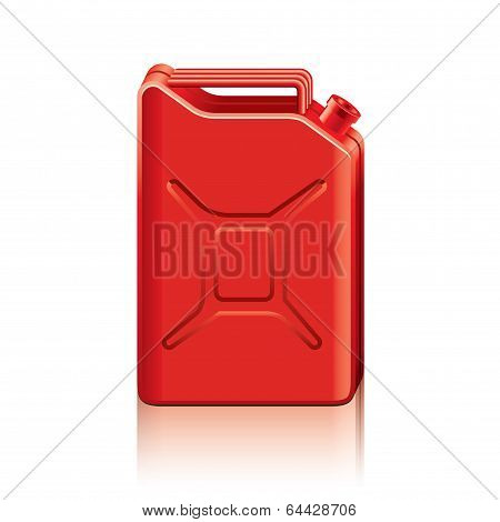 Red Jerrycan Vector Illustration