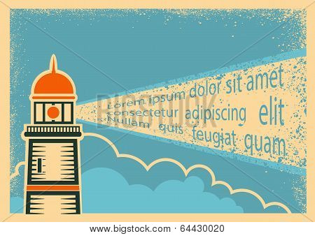 Poster With Lighthouse