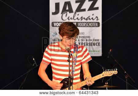 Netherlands - Voorschoten - Circa June 2012: The Breaks During The Occurrence Overalls Jazz Culinary