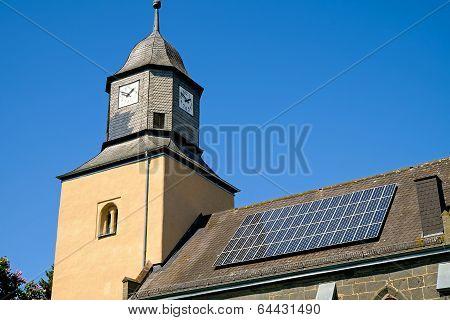 Church with solar panels