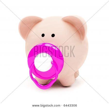 Baby Piggybank Isolated